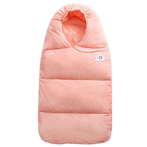 Bebé Saco de dormir Para invierno Pluma abajo Algodón Grueso Recién nacido Envolverse Con Cremallera 76cm,Ros