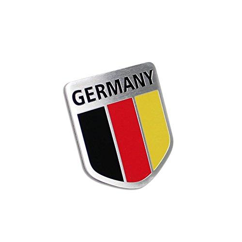 Generic Car Alloy Metal German Germany Flag Chrome Side Rear Emblem Badge Decal - Decal Germany Flag