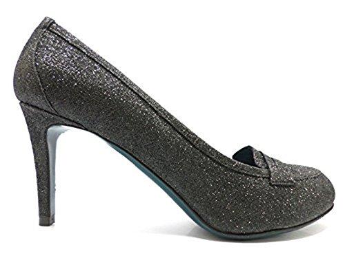 18 KT Escarpins Femme Noir glitter