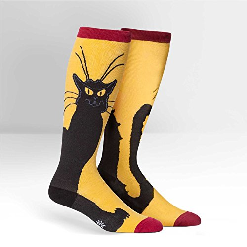 Sock It To Me Women's or Men's Stretch It Knee High Socks, Chat Noir