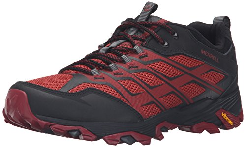 Merrell Men's Moab FST Hiking Shoe, Burgundy/Black, 8.5 M US (Trees Store Hours Trends And)
