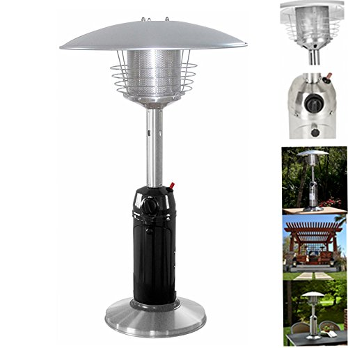 Stainless Steel Tabletop Outdoor Garden Patio Heater- Hammered Bronze Silver Black (Stainless Steel Tabletop Patio Heater)