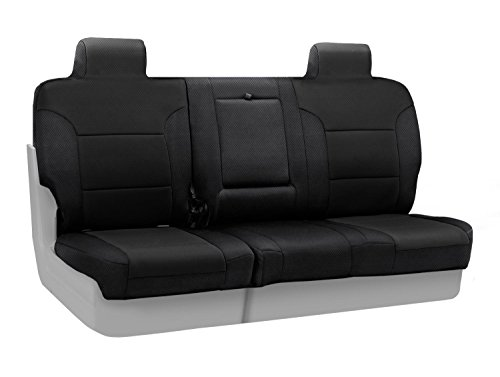 Coverking Custom Fit Rear 60/40 Bench Seat Cover for Select Toyota Camry Models - Spacermesh Solid (Black)