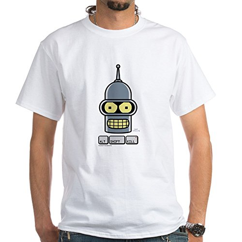 CafePress Futurama Alt Shift Kill White T-Shirt - 100% Cotton T-Shirt, White