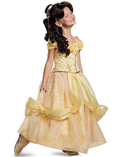 Disguise Belle Ultra Prestige Disney Princess Beauty & The Beast Costume, Medium/7-8 (Costumes Store)