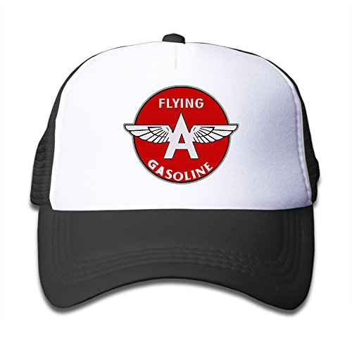 Price comparison product image Flying A Gasoline Crystal Symbol Kid Cool Snapback Mesh Hat Black