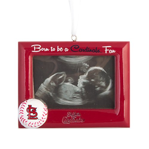 MLB Baseball DIY Personalized Christmas Ornament St. Louis Cardinals Born to be a Cardinals Fan Picture Frame Team Ornament Do it yourself - Mlb Christmas Ornaments