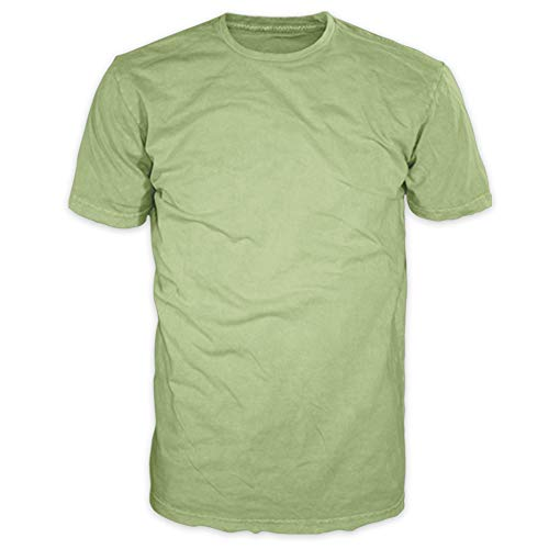 FSD Men's Signature Collection - Casual Premium Soft Cotton Short Sleeve T-Shirts Classic Crew Neck Style (XL, Celadon Green)
