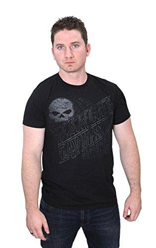 Harley-Davidson Mens Web Skull Lightweight Black Short Sleeve T-Shirt