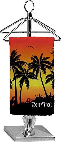 tropical sunset finger tip towel