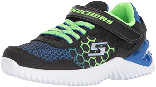 Skechers Kids Boys' Ultrapulse-Rapid Shift Sneaker,Black/Blue/Lime,1 Medium US Little Kid