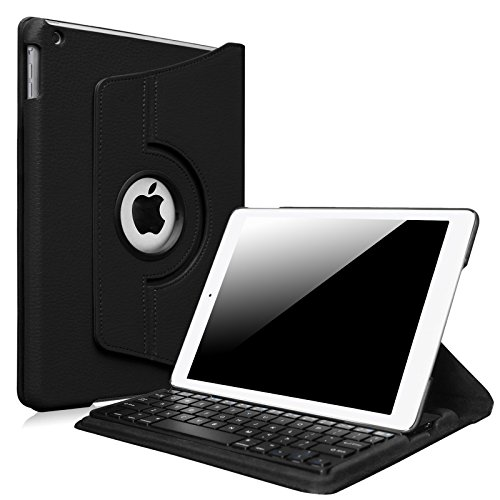 Fintie New iPad 9.7 inch 2017 / iPad Air Keyboard Case - 360 Degree Rotating Stand Cover with (Ipad Case With Keyboard And Stand)