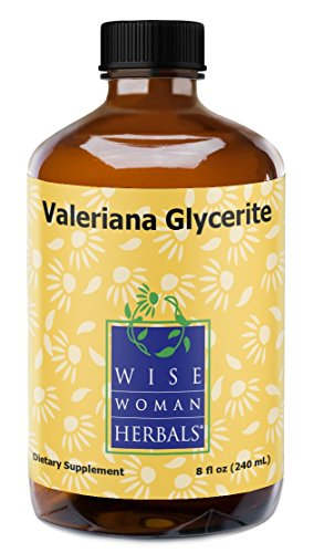 Wise Woman Herbals - Valeriana/Valerian Glycerite Glass Bottle (alcohol-free) - 8 fl oz by Wise Woman Herbals