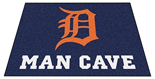 Detroit Tigers Floor Rug (Fanmats 22408 Mlb-Detroit Tigers Man Cave All-Star Mat)