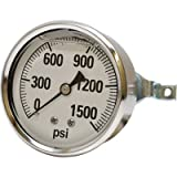 Valley Instrument Panel Mount Glycerin Filled Gauge - 0-1500 PSI
