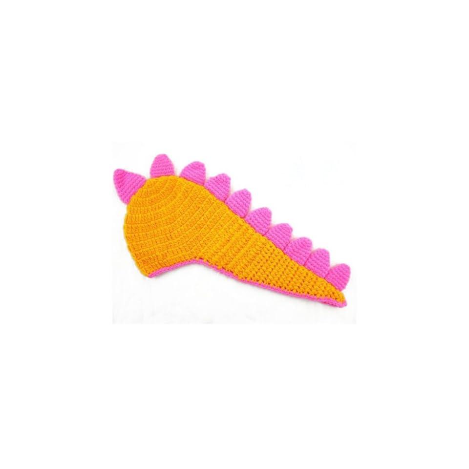 HuaYang Toddler Baby Girl Boy Dragon Dinosaur Acantha Handmade Knit Crochet Beanie Hat Cap(Orange)