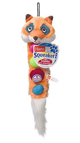 Hartz Squeakerz Stuffing-Free Plush Woodland Animal Dog Toy
