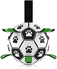 Dog Toys Soccer Ball, Durable Interactive Dog Indoor Outdoor Toys Jolly Balls, Dog Tug Toy for Small & Med