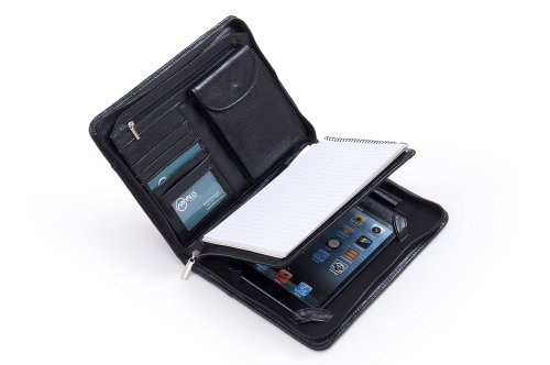Compact Deluxe Leather Padfolio Junior