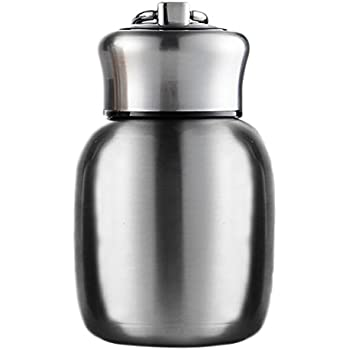 Stainless Steel Water Bottle, Mini 200ml Vacuum Insulated Water Bottle Vacuum Leak Proof Sport Insulated Tumbler Vacuum Cup Hot and Cold Water Bottle Women Girls Kids Gift (Original color)