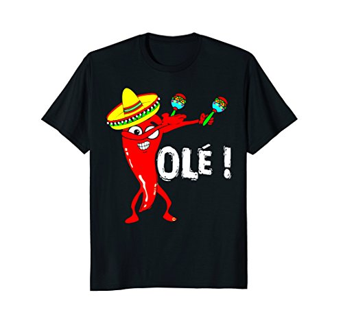 CINCO DE MAYO DANCING CHILI PEPPER OLE FUNNY TSHIRT Dancing Chili Pepper