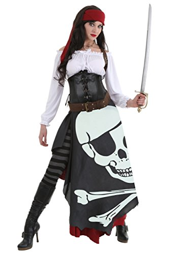 Women's Pirate Costume Jolly Roger Flag Pirate Costume for Women Medium - Sexy Pirate Gypsy Costume