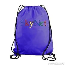 Purple SkyNet Drawstring Workout Gym Bag Backpack