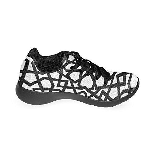 Mujer Negro Zapatillas Lona Para de Zenzzle Running Negro de d6qwZYx0