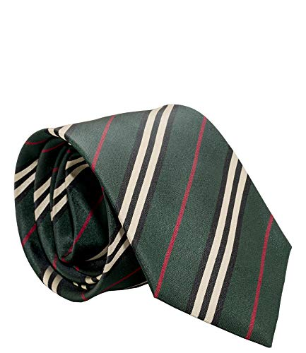 Burberry London Mens Necktie Classic Diagonal Stripe Pattern Wide Cut Silk Tie (Diagonal - Necktie Mens Stripes
