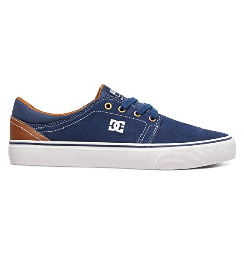 DC Shoes Men's Trase S Skate Low Top Shoes Navy/Dk Chocolate