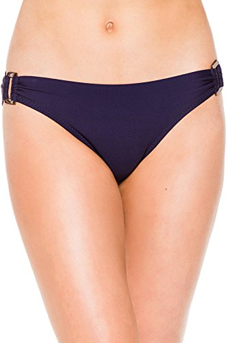 Helen Jon Women's Resort Essentials Ring Side Hipster Bikini Bottom Navy XS