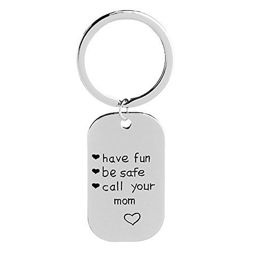 Have Fun Be Safe Call Your Mom Personalized Graduation Keychain High School College Senior Year Graduation Gift ENJOYINGTODAY