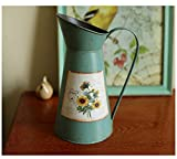 Cheap VANCORE Nostalgia Style Shabby Chic Vase Metal Pitcher for Flowers Decoration