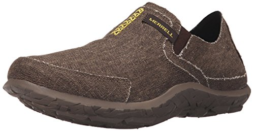Merrell Mens Slipper Fashion Sneaker Marrone Scuro / Lime