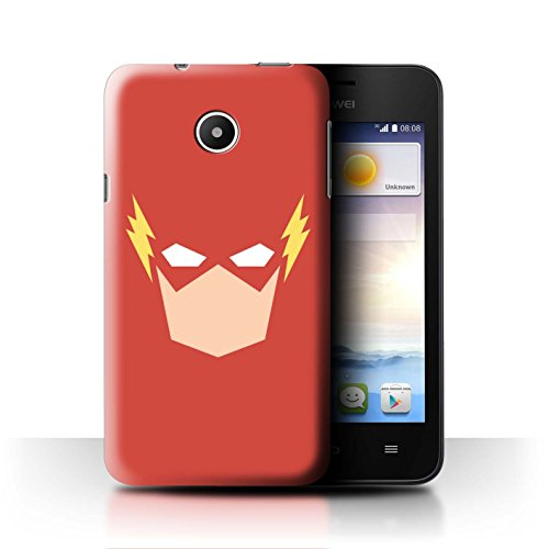 Ascend Collection - STUFF4 Phone Case / Cover for Huawei Ascend Y330 / The Flash Inspired Art Design / Minimalist Superheroes Collection