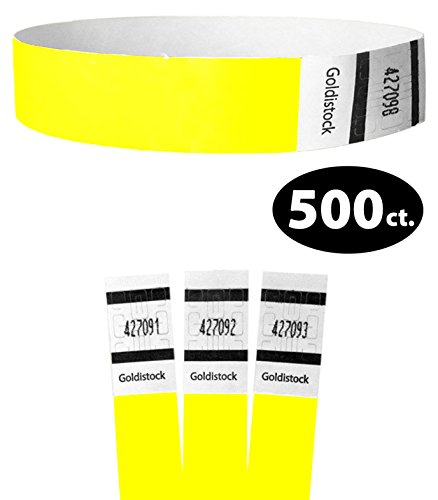 Neon Wristbands Yellow Tyvek (Goldistock Original Series - 3/4