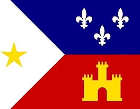 Acadiana estandarte de la bandera francés Louisiana Cajun banderín 3 x 5 interior al aire libre nuevo: Amazon.es: Hogar