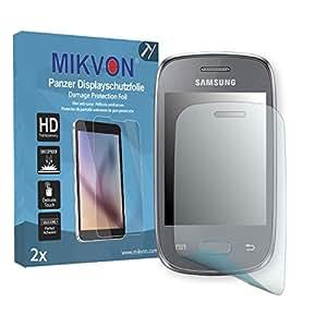 2x Mikvon Película blindada protección de pantalla Samsung S5312 Galaxy Pocket Neo Duos Protector de Pantalla - Embalaje y accesorios