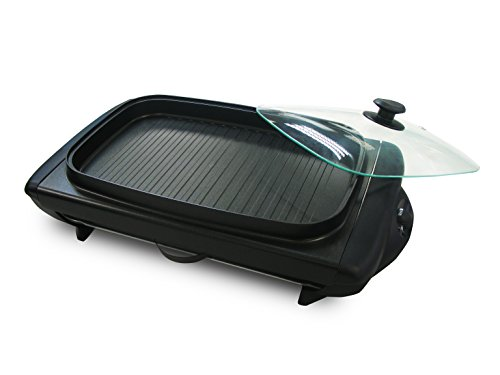 Tayama TG-821 Electric Griddle with Glass Cover, Black by TAYAMA (Image #2)