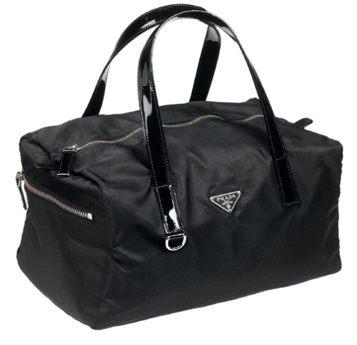 05fa70dd50b8 Image Unavailable. Image not available for. Colour: Prada Women's Nylon  Satchel with Patent Leather ...
