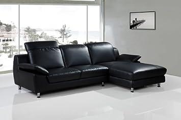 Groovy Olympia Left Corner Sofa Chaise Black Leather Amazon Co Uk Machost Co Dining Chair Design Ideas Machostcouk