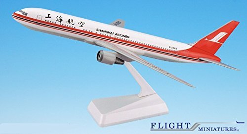 (Shanghai Airlines 767-300 Airplane Miniature Model Plastic Snap-Fit 1:200 Part# ABO-76730H-029)