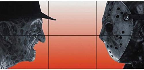 Doppelganger 33 LTD Freddy Krueger VS Jason Voorhees فیلم ترسناک شخصیت های فیلم شخصیت های غول پیکر پوستر هنر چاپ B313