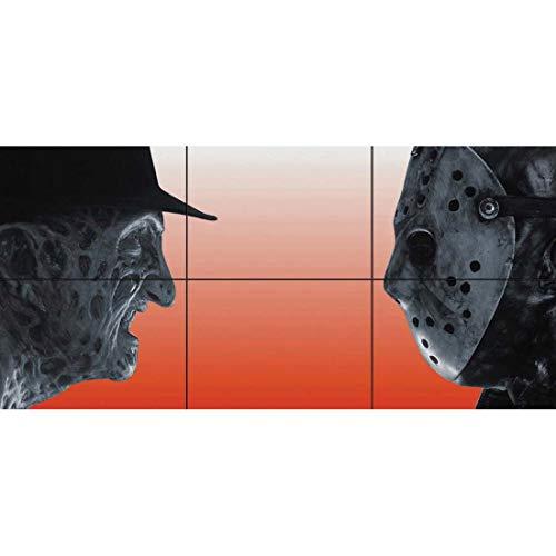 Jason Voorhees Makeup (Doppelganger33LTD Freddy Krueger VS Jason Voorhees Horror Movie Film Characters Giant Picture Art Poster Print)