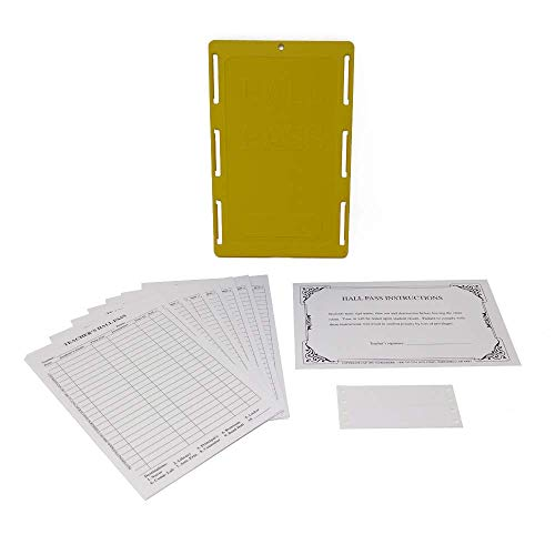 Class A Products Teacher's Hall Pass Kit with Antimicrobial GermBlox & Customizable Labels -