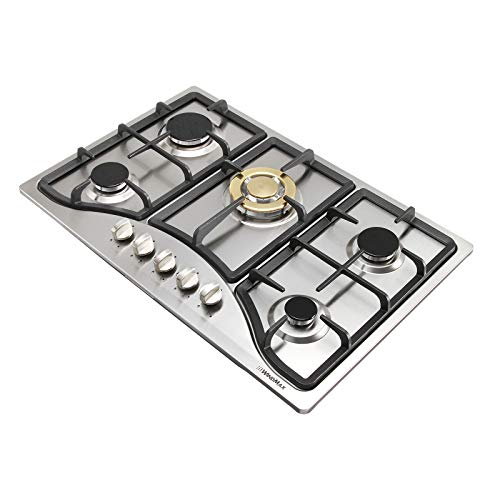 Windmax Euro Style 30inch 5 Burners Built in Natural Gas Cooktop LPG Gas Hob Cooker