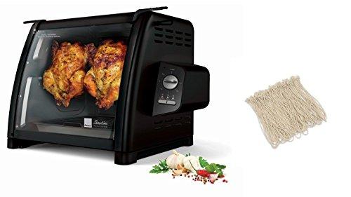 Ronco ST5500BLGEN Rotisserie Oven, Black, Plus Rotisserie Elastic Food Ties