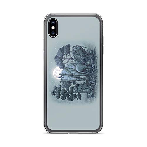 (iPhone Xs Max Case Anti-Scratch Creature Animal Transparent Cases Cover Midnight in The Stone Garden Animals Fauna Crystal Clear)