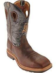 Twisted X Mens Pull-on Cowboy Work Boot Steel Toe - Mlcs006