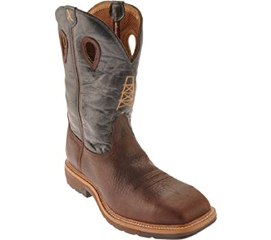 Amazon.com | Twisted X Men's Pull-On Cowboy Work Boot Steel Toe ...